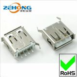 2.0USB母座180度焊线弯脚13.7USB插座充电器USB连接器接口