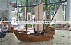 展示道具船 室內小型海盜船裝飾船 精品木船