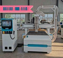 河南郑州木门雕刻机,气动换刀开料机,四工序开料机