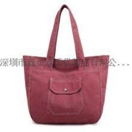 新款時尚布料女士手提包