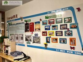 磁善家创意定制办公美化可喷绘磁性文化墙