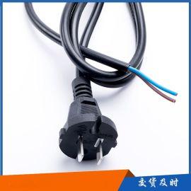 国标大功率纯铜电源线插头电源线两芯插头线