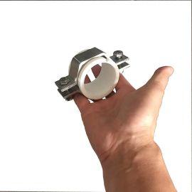 内衬塑料管六角不锈钢管夹 Clamp pipe bracket