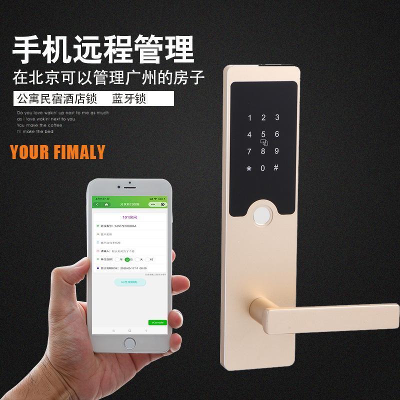 廠家直銷智慧家用鎖把手半導體防盜鎖遠程手機密碼鎖智慧電子門鎖