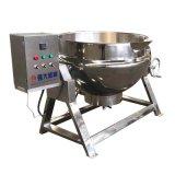 罐头产品卤煮锅 电加热3厢电带搅拌 加工猫粮肉食夹层锅