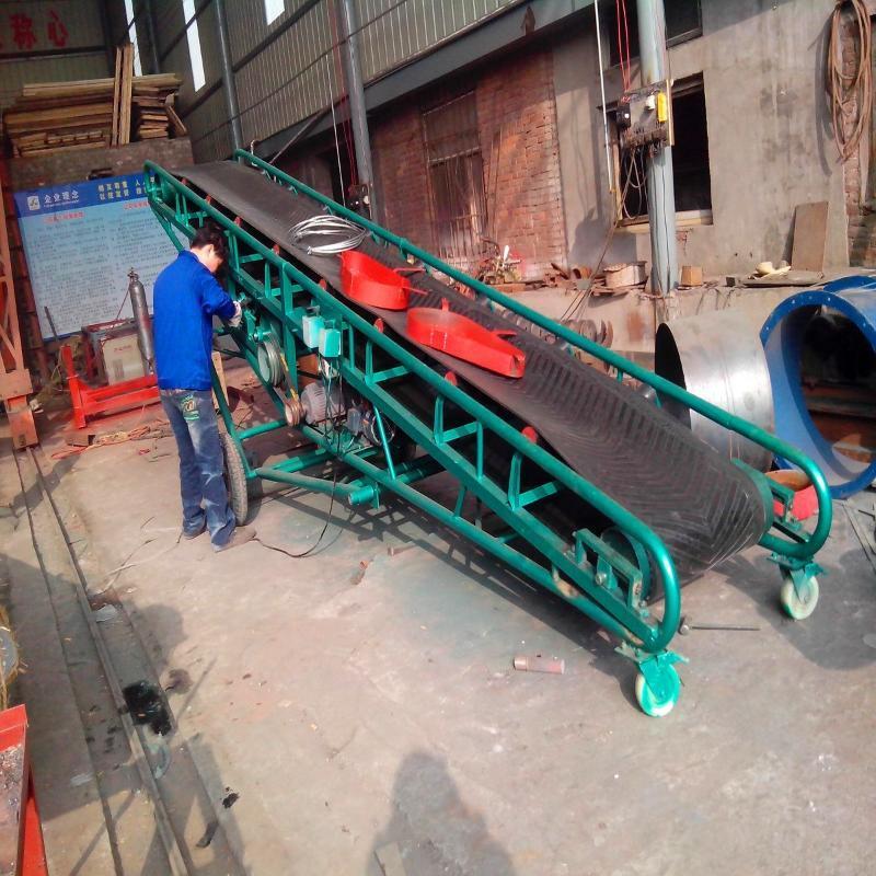 熱銷塑料鏈條輸送機 帶式移動輸送機 槽型膠帶輸送機
