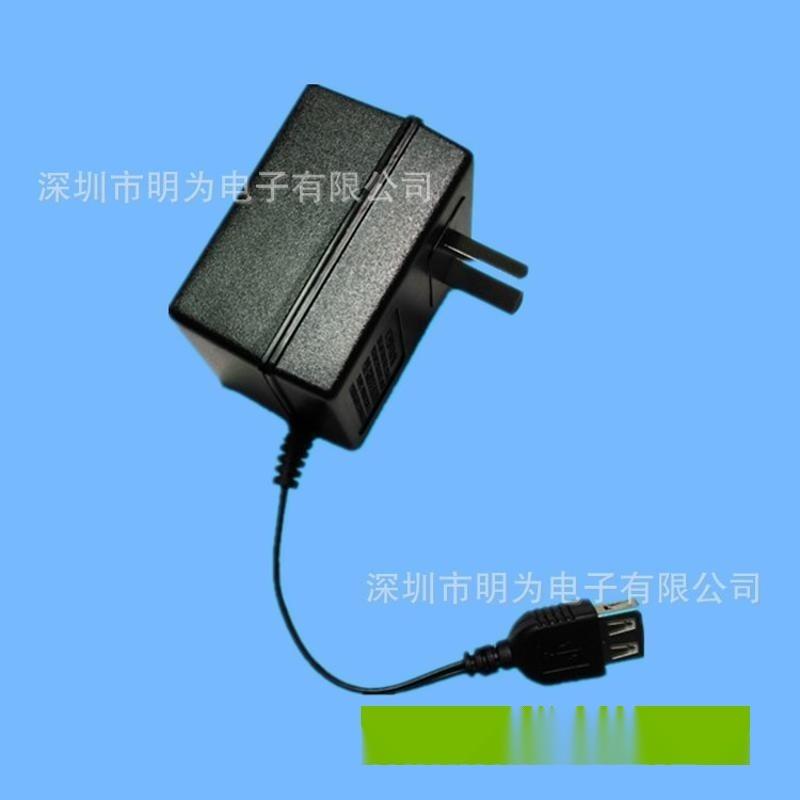 厂家生产USB阿根廷适配器 5V IRAM认证电源