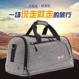 批發廠家代發單肩行李包大容量旅行手提包防水尼龍運動健身包