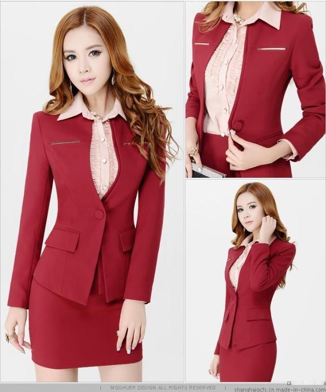 上海红万 2020女式西装制服 西服定制