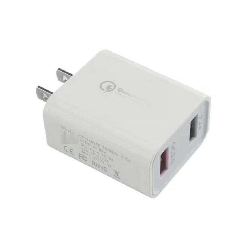 双USB充电器 QC3.0快充,欧规/美规
