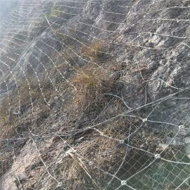 悬崖绝壁护坡网主动防护钢丝绳网边坡落石防护网厂