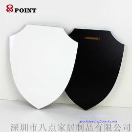 空白熱轉印耗材 盾牌型MDF木質獎章 燙畫獎牌