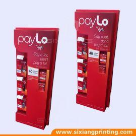 春节红色纸展示架手机配件挂钩展示架落地式多款手机架