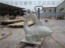砂岩景观摆设定做仿汉白玉鲤鱼雕塑厂家