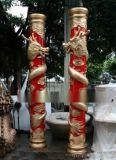 人造石雕花羅馬柱 砂岩透光羅馬柱裝飾 藝術砂岩羅馬柱廠家