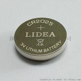 遥控防盗报警器电池锂锰纽扣电池CR2025