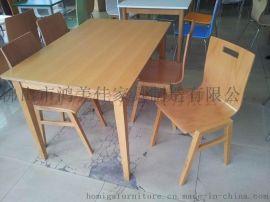 时尚分体实木脚餐桌椅,广东佛山鸿美佳餐厅家具厂家专业定制各类时尚分体实木脚餐桌椅