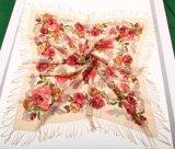100%純羊毛印花方巾頭巾