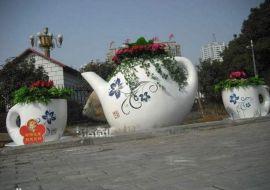 玻璃钢花盆 商场美陈花盆 玻璃钢创意花盆 广场落地式 组合花盆
