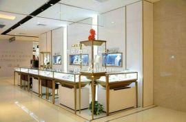 东莞高品质不锈**宝展柜定制,广州珠宝展柜设计,卡地亚展示柜