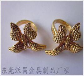 锌合金甩铸时尚戒指、潮流首饰加工、品种繁多、做工精美