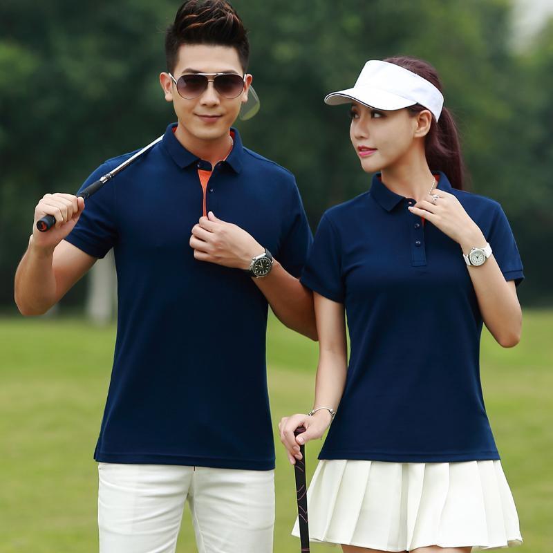 夏装  企业办公室领班经理工作服POLO衫短袖t恤男女高尔夫球服