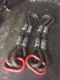 钢丝绳吊索具手工插编钢丝绳索具钢丝绳琵琶头15*4m钢丝绳编头串头手工编插