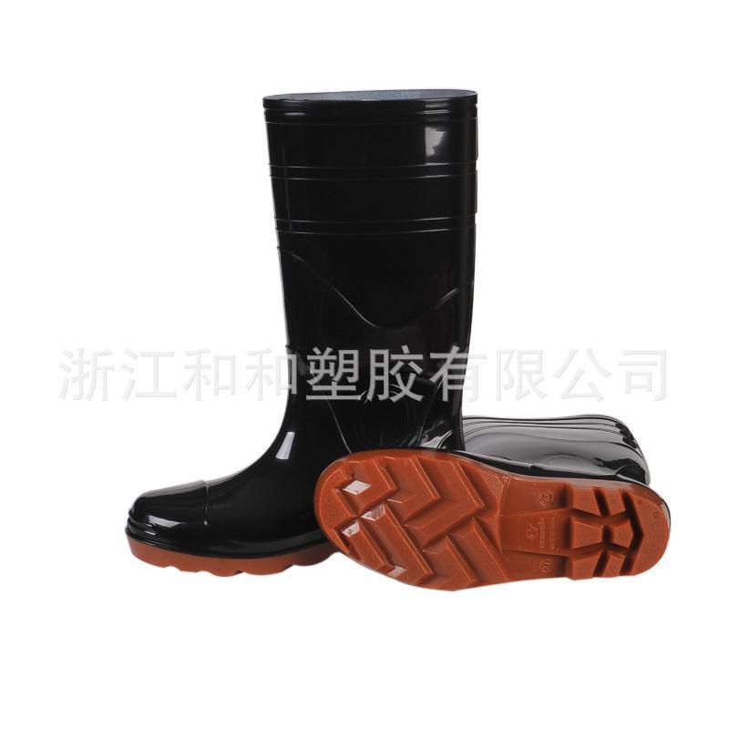 雨鞋定製709加厚PVC高筒耐磨防護雨靴鋼包頭防砸耐油酸鹼防護靴