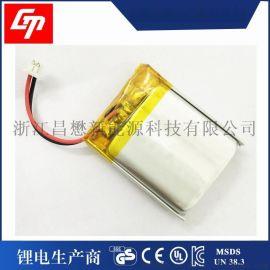 聚合物锂电池652530 3.7v蓝牙耳机,音响400mah充电锂电池