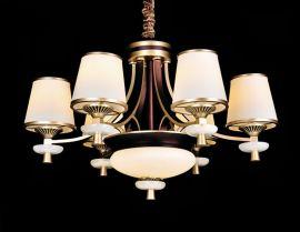 琪美8198玉石客厅灯欧式吊灯现代简约卧室灯美式灯饰温馨餐厅灯简欧吊灯具