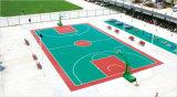 广西小区丙烯酸篮球场彩色地坪施工建设厂家 康奇体育