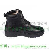 真皮充電加熱鞋自發熱保暖軍警電熱鞋靴廠家