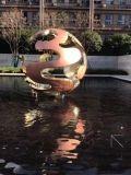 不锈钢镂空球雕塑 景观风水镂空球摆件