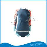 厂家直销女款莱卡分体速干防晒泳衣浮潜冲浪衣