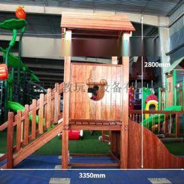直銷幼兒園木質小滑梯戶外室內中大型玩具遊樂場設施