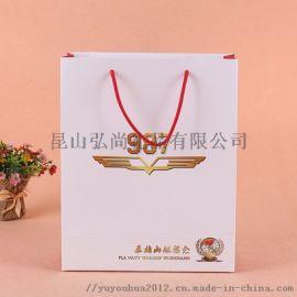 昆山定制企业礼品袋白卡纸袋牛皮纸袋可印Logo