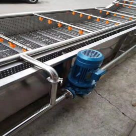 不锈钢荠菜气泡清洗机 气泡喷淋清洗机