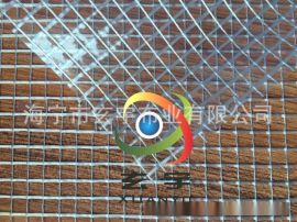 大格子PVC透明网格布 箱包面料 车间隔断帘