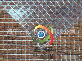 1000D/10mm*10mm格子PVC透明网格布 箱包面料 车间隔断帘