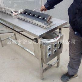 菜市场现场制作代加工蛋饺的设备 全自动小型蛋饺机诸城舒克机械