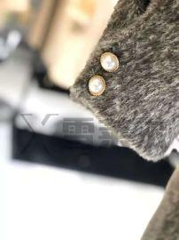 第四批黄金*貂绒短款大衣女装折扣店冬装广州雪莱尔18新款货源
