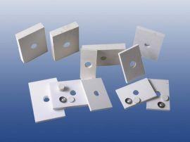 臻牌耐磨陶瓷衬板带孔焊接氧化铝陶瓷板