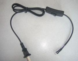 国标AC电源线,带303开关AC电源线插头线