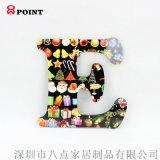 木质英文字母 MDF热转印节日装饰大写字母