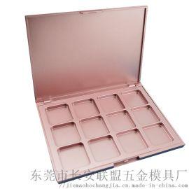 12色玫瑰金眼影空盘包材厂家