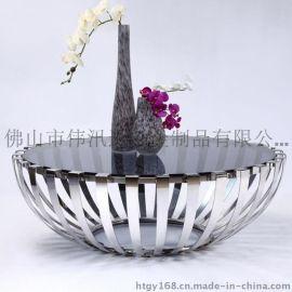 欧式不锈钢茶几,激光镂空围边焊接不锈钢茶几桌