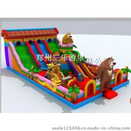 贵州铜仁大型充气滑梯 广场上的充气大滑梯安全