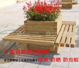 户外实木花箱 木制花架花盆 组合花箱景观花箱小区种植箱