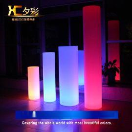 豪庭户外灯饰现代简约LED装饰台灯 七彩遥控圆形创意灯 厂家批发