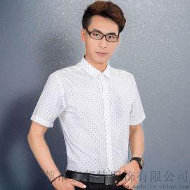 嘉邦特新款品牌男士短袖衬衫纯棉舒适商务休闲韩版流行衬衣